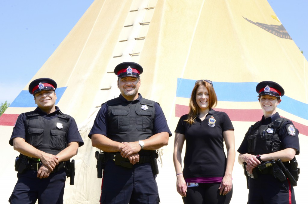 Police in front of Tipi